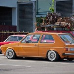 Orange Volkswagen Rabbit on 15