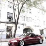 "Red EG Honda Civic Hatchback on 16"" BBS RS"