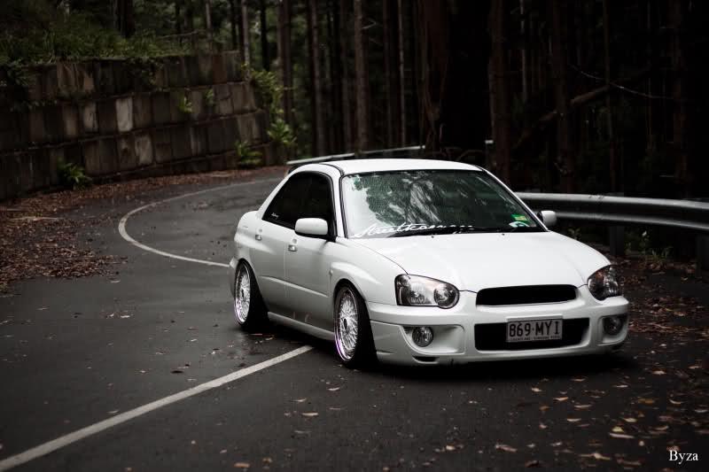 White Bbs Rs Subaru Impreza